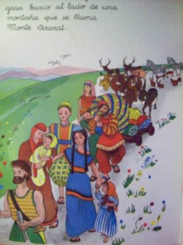 Antiguo Libro De Texto Infantil El Arca De Noe Daniel Rops