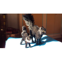 2 Gatos Negros Steiff Aleman Juguete Antiguo Peluche