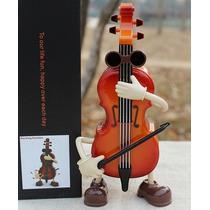 Cajita Musical Instrumento Violín Bailarín. Adorno O Regalo
