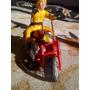 Emocionate Antiguo Juguete Circa 1980 Moto Chopera Retro