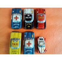 Lote X 6 Autitos De Chapa Miniatura Made In Japan Años 60s