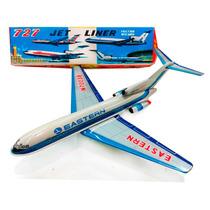 Avion A Friccion 1960/70 Nuevo Chapa Japon Juguetes Lloret