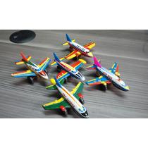 Combo 5 Aviones Antiguos De Hojalata Japoneses Surtidos!!!!