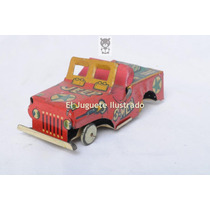 Jeep Miniatura G Men Lata Juguete Antiguo Ind Argentina