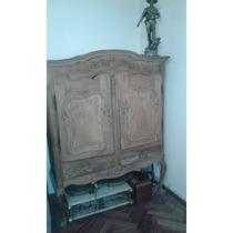 Mueble Antiguo Cristalero Provenzal