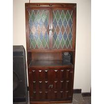 Mueble Tipo Antiguo Puertas Con Vitral