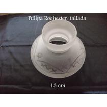Tulipa Rochester Tallada De 13 Cm P. Velador Araña Colgante