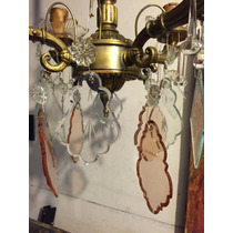 Lámpara De Bronce Con Caireles