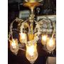 Araña Francesa A Gas Electrificada De 6 Luces (482)