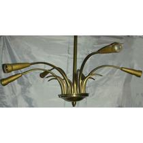 Araña Vintage , Años Sesenta De 6 Luces ,80cm Diam !