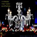 Elumi- Deco-vintage Araña 4 Luces Cristal Caireles Nuevas