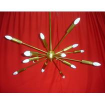 Impecable Araña Colgante Retro Vintage Diseño Sputnik (1467)