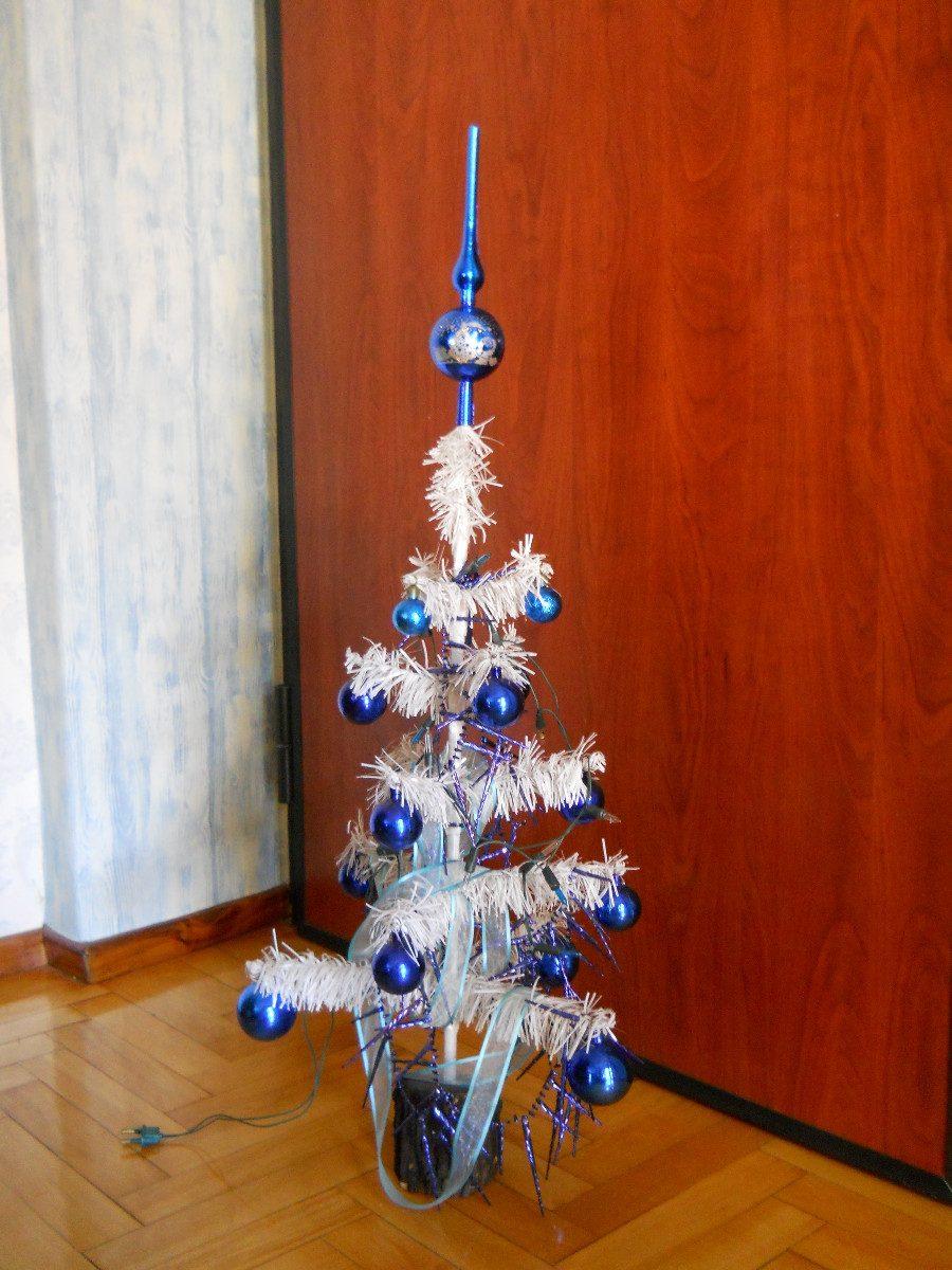 Arbol navidad blanco 2 decorar tu casa es facilisimo - Como adornar un arbol de navidad blanco ...