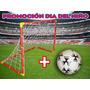 Arco De Futbol Grande 180x170x70cm + Pelota N°5 De Regalo!!!