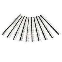 Pack 10 Tiras De 40 Pines Rectos Macho 2.54mm Arduino Ptec