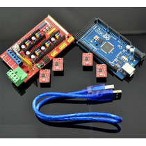 Kit Ramps 1.4 Arduino Mega 2560 C/cable 4 Driver A4988 Dis