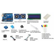 Kit Arduino Uno Inicial + Caja Plástica !