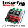 Interfaz Driver Cnc Micropasos P/ Motores Paso A Paso 3 Axis