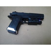 Pistola A Municiones Con Laser Y Luz Azul