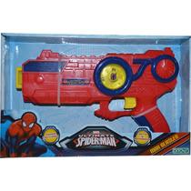 Pistola Hombre Araña Max Blaster Luces Sonidos Ditoys