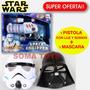 Star Wars Pistola Luz Sonido + Mascara Stormtrooper O Darth