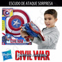 Capitan America Civil War Escudo De Ataque Sorpresa Nerf