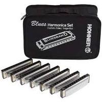 Set 7 Armonicas Hohner Bluesband Estuche Tono A,bb,c,d,e,f,g
