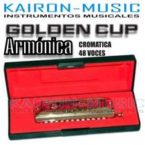 Armonica Golden Cup Cromatica 48 Voces Con Estuche