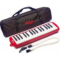Melodica Pianica Stagg 32 Notas C/ Estuche Mangera Roja