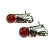 Aro Lady Di Perla Roja 6m Acero Quirúrgico Er7633-6r