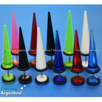 Piercing Cuerno Expansor Color. Perno 1.2mm (fino Normal)