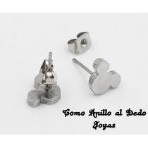 Aritos Mickey Acero Quirúrgico Silver