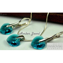 Aros, Cadena Y Dije Importados Cristales Swarovski
