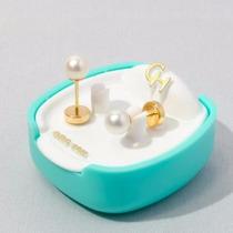 Abridor De Oro 18klts Con Perlas Cultivadas Ch109