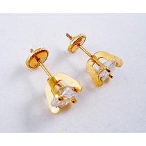 Aros De Oro Amarillo Con Cubic