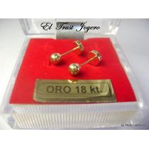 Aritos Abridores Oro 18k. Nº 3 El Trust Joyero Garantia Escr