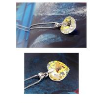 Collar Con Dije Colgante Cristal Swarovski Elements Plata925