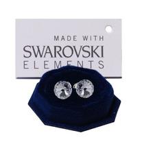 Aros Xirius Chaton 6 Mm Swarovski Elements Plata900