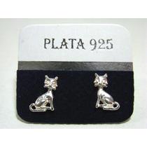 Aros De Animalitos Plata 925 Gatitos Ositos Elefante Etc