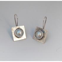 Aros Perlas Barrocas, Perlas Cultivadas, Plata 925