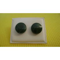 Aritos De Malaquita Piedra Semipreciosa Bijouterie