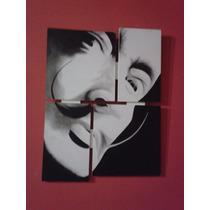 Cuadro Pintado Rostro Dalí (30,5 Ancho X 40,5 Alto) C/gancho
