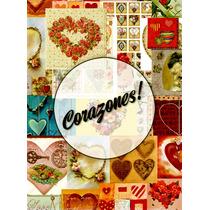 Láminas Decoupage - Varios Diseños - Corazones - Vintage