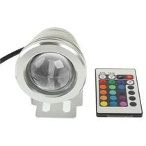 Reflector Led Sumergible Piscina 10w, Rgb Controlador A 12v