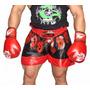 Pantalón De Muay Thai-kick Boxing- Artes Marciales-muscul
