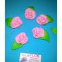 10 Rosas Artesanales En Porcelana Fria