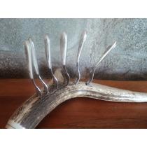 Copetineros En Asta De Ciervo Con Tenedores De Acero Inox