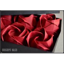 Rosas De Papel, Lindo Original Regalo Artesanal Origami Deco