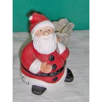 Navidad Papá Noel Cerámico A Mano Único Firmado Farel Olivos