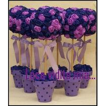 Topiarios Centros Mesa 40 Cm Flores De Papel Loca Vidita